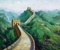 长城春色 油画 -  - 瓷杂 书画拍卖 - 2012年春季艺术品拍卖会 -收藏网