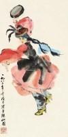 新疆舞 立轴 设色纸本 - 4527 - 中国书画 - 2012秋季拍卖会 -收藏网