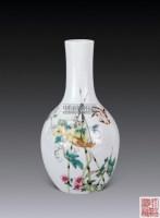 天青花鸟瓶 -  - 以阅众甫瓷器文玩专场 - 2012年大型艺术品拍卖会 -收藏网