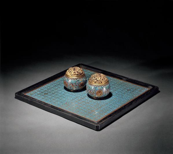 铜鎏金掐丝珐琅围棋罐 (一套) -  - 古董珍玩 - 2012春季艺术品拍卖会 -收藏网