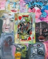 扑克系列之五 布面油画 - 157088 - 油画暨雕塑专场 - 2012春季艺术品拍卖 -中国收藏网