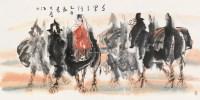 千里之行 镜片 设色纸本 - 114744 - 中外书画精品 - 2012年《第一拍卖厅》冬季专场拍卖会 -收藏网