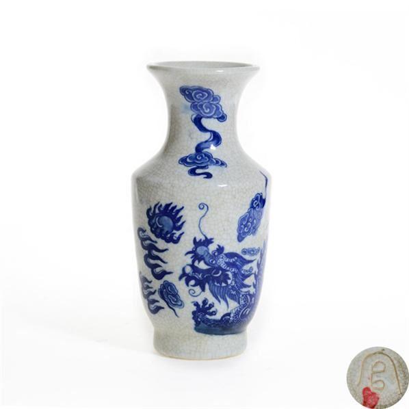 官款青花云龙纹瓶 -  - 古董珍玩 - 2013 年迎春大型艺术品拍卖会 -收藏网