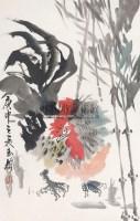 大吉图 托片 纸本 -  - 中国书画 - 2012年第四回无底价同一藏家书画拍卖会 -中国收藏网