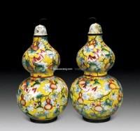 铜掐丝珐琅葫芦瓶 (一对) -  - 中国古董精品 - 2012年《第一拍卖厅》冬季专场拍卖会 -收藏网