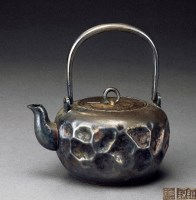 宝泉堂锤目纹纯银壶 -  - 一期一会 听茶闻香 - 2013年春季拍卖会 -收藏网