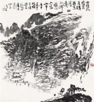 山水 镜片 水墨纸本 - 116755 - 中国书画二 - 2012年春季艺术品拍卖会 -收藏网