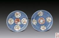 青花开光粉彩博古图盘 -  - 中国瓷器 - 2012年秋季竞买会 -收藏网