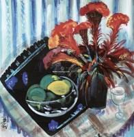 花果 镜片 设色纸本 - 林风眠 - 中国书画(一) - 2013年春季拍卖会第428期 -收藏网