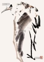 鹤 镜框 纸本 - 王子武 - 中国书画 - 2013年首届艺术品拍卖会 -收藏网