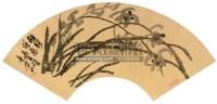 兰石图扇面 镜片 水墨纸本 - 吴昌硕 - 中国书画(一) - 2012第十五届书画拍卖会 -中国收藏网