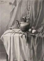 静物之二 素描 - 曾传兴 - 华人西画 - 2012年秋季暨十周年庆大型艺术品拍卖会 -中国收藏网