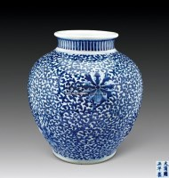 青花缠枝花卉大罐 -  - 惜古藏珍 - 2012年秋季拍卖会 -收藏网