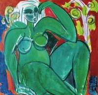 女人体 油彩 布面 -  - 中国现当代美术-油画雕塑 - 2013春季拍卖会 -收藏网