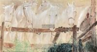 白马图 镜片 设色纸本 - 4302 - 名家书画专场 - 2012年春季艺术品拍卖会 -收藏网