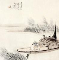 船头聚饮 镜片 纸本 - 140451 - 中国书画 - 2013迎春书画拍卖会 -收藏网