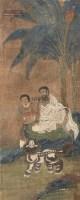 佛像 镜片 绢本 - 116977 - 铁网珊瑚—中国古代书画专场 - 2013年春季艺术品拍卖会 -收藏网
