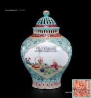 松绿地开光童子戏读香熏罐 -  - 私人收藏 - 2010年第98期拍卖会 -中国收藏网