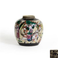 成化款五彩人物盖罐 -  - 古董珍玩 - 2013 年迎春大型艺术品拍卖会 -收藏网