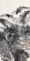 武陵山居图 镜片 -  - 书画专场 - 2013南方艺术收藏品春季拍卖会 -中国收藏网