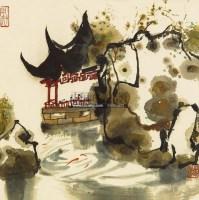 风景 镜心 设色纸本 - 115966 - 中国书画 - 第二期艺术品拍卖会 -收藏网