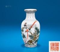 粉彩绶带题诗花卉瓶 -  - 中国陶瓷及艺术珍玩 - 2013年春季拍卖会 -收藏网