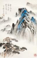 山水 立轴 设色纸本 - 申石伽 - 中国书画 - 2012年秋季艺术品拍卖会 -中国收藏网