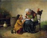 鸡蛋和祖母 布面 油画 -  - 中外书画精品 - 2012年《第一拍卖厅》冬季专场拍卖会 -收藏网