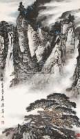 观瀑 立轴 纸本 - 4357 - 中国书画专场(二) - 2012年秋季书画艺术品拍卖会 -收藏网