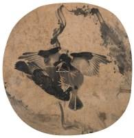 鸜鹆图 镜心 纸本 -  - 中国书画(五) - 嘉德四季第三十二期拍卖会 -收藏网