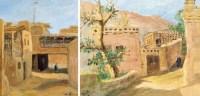 吐鲁番写生 (二幅) 布面油画 - 黎冰鸿 - 中国书画 西画 杂项 - 2013年迎新艺术品拍卖会 -收藏网