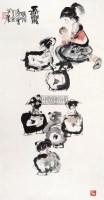 长乐 立轴 设色纸本 - 116015 - 中国当代书画 - 2012秋季拍卖会 -收藏网