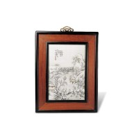 粉彩雪景山水人物图挂屏 -  - 中国瓷器 - 2012年秋季竞买会 -收藏网