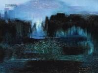 池塘静远 油彩 布面 -  - 中国现当代美术-油画雕塑 - 2013春季拍卖会 -收藏网