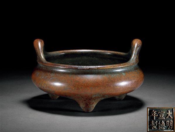 铜凤眼三足炉 -  - 古董珍玩 - 2012春季艺术品拍卖会 -收藏网