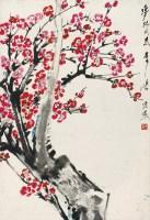 红梅 立轴 设色纸本 - 唐云 - 中国书画 - 2012年秋季艺术品拍卖会 -中国收藏网