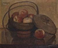 红苹果 布面 油彩 - 158318 - 中国油画及雕塑 - 2013年春季拍卖会 -收藏网