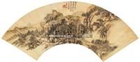 山水扇面 镜片 设色纸本 - 王原祁 - 中国书画(一) - 2012第十五届书画拍卖会 -中国收藏网