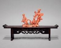 珊瑚唐子摆件 -  - 中国古董珍玩专场 - 2012秋季拍卖会 -收藏网