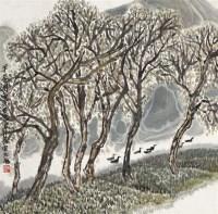 早春图 镜片 设色纸本 -  - 中国书画 - 2012年春季艺术品拍卖会 -收藏网