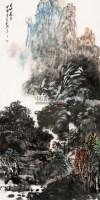 山水 镜心 设色纸本 - 王如何 - 三晋翰墨专场 - 2012年艺术品拍卖会 -中国收藏网