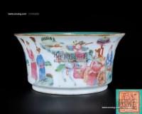 粉彩人物通景盆 -  - 私人收藏 - 2010年第98期拍卖会 -中国收藏网