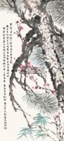 三友图 立轴 纸本 -  - 中国书画 西画 杂项 - 2013年迎新艺术品拍卖会 -收藏网