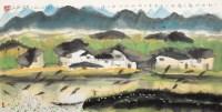 小村湖畔 镜心 设色纸本 - 刘光夏 - 当代书画(二) - 2012秋季拍卖会 -中国收藏网