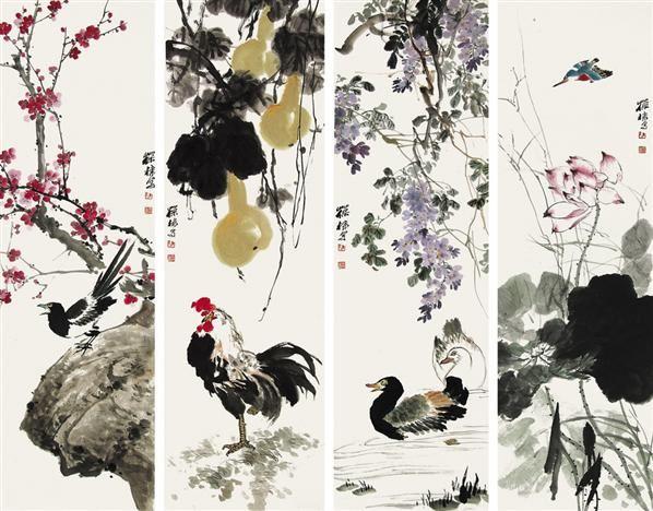 花鸟四条屏-陈葆棣-中国书画专场-2013北京嘉缘四季