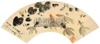 金鱼扇面 镜片 设色纸本 - 吴作人 - 中国书画(一) - 2012第十五届书画拍卖会 -中国收藏网