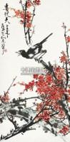 喜上眉梢 立轴 纸本 - 苏友中 - 中国书画 - 2012秋季艺术品拍卖会 -收藏网