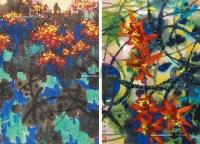 花卉 (二帧) 镜片 纸本 - 116723 - 中国书画 - 2013年首届艺术品拍卖会 -收藏网
