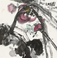 荷塘清趣 镜心 设色纸本 - 118346 - 中国书画二 - 2012春季艺术品拍卖会 -收藏网