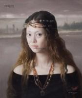 灰色•湖 油彩 布面 - 曾传兴 - 中国现当代美术-油画雕塑 - 2013春季拍卖会 -收藏网